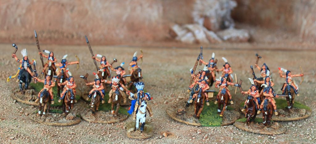 Indian war band ( x 21 figs)