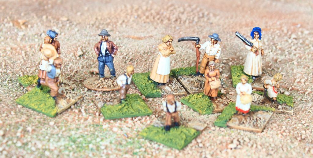 Wagon train settlers or homesteaders